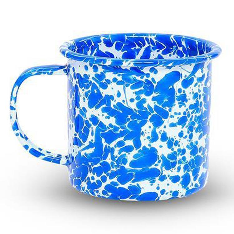 7CCHD11DBM SPLATTER PAINT MUG  354ml BL