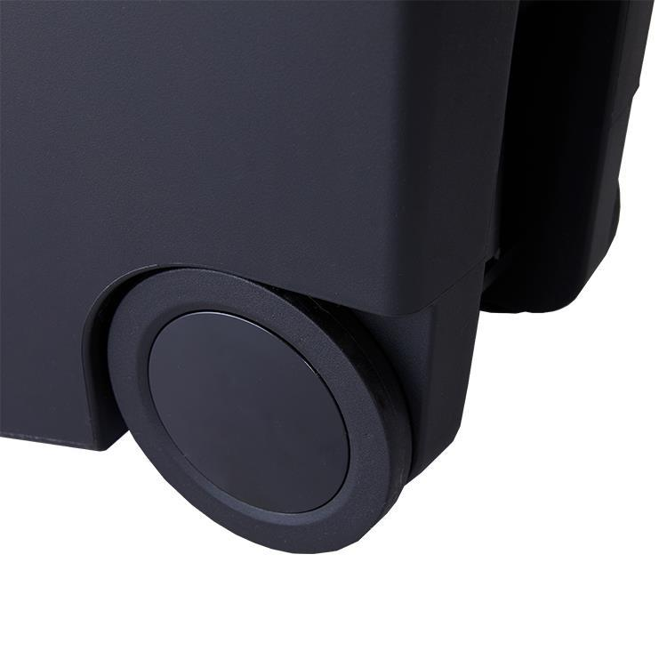 CW1361   スリムプラスティックステップカン  40L  BK