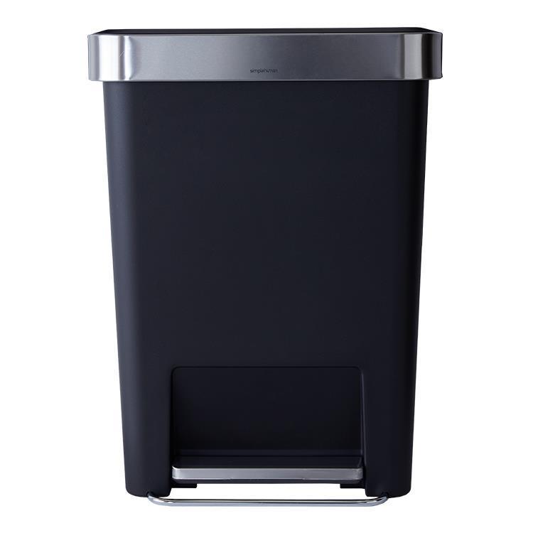CW1385  プラスチックレクタンギュラーステップカン 640 BK