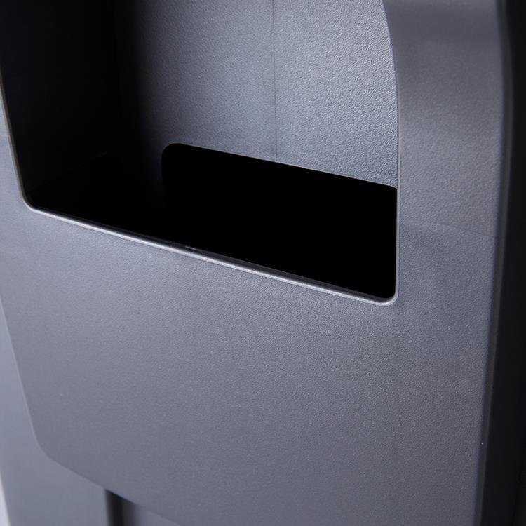 CW1386  プラスチックレクタンギュラーステップカン 640 GY