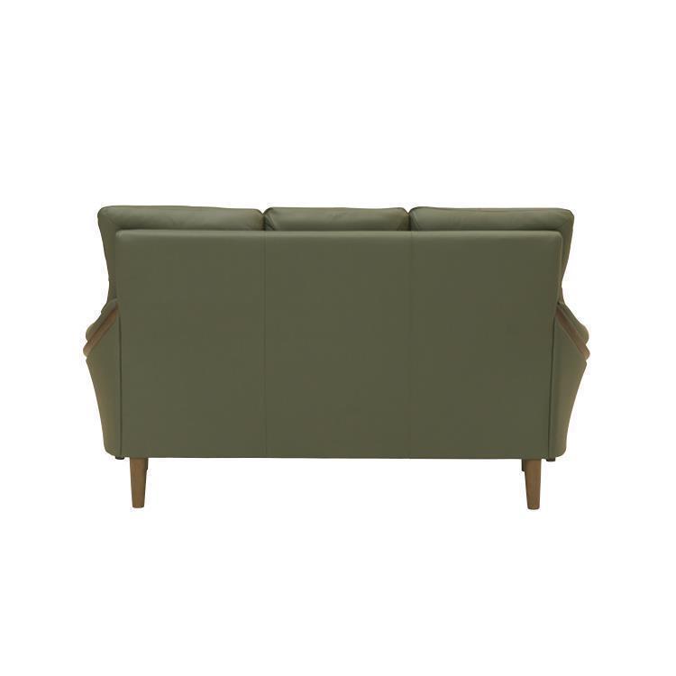 グレース 革  グリーン 3Pソファ