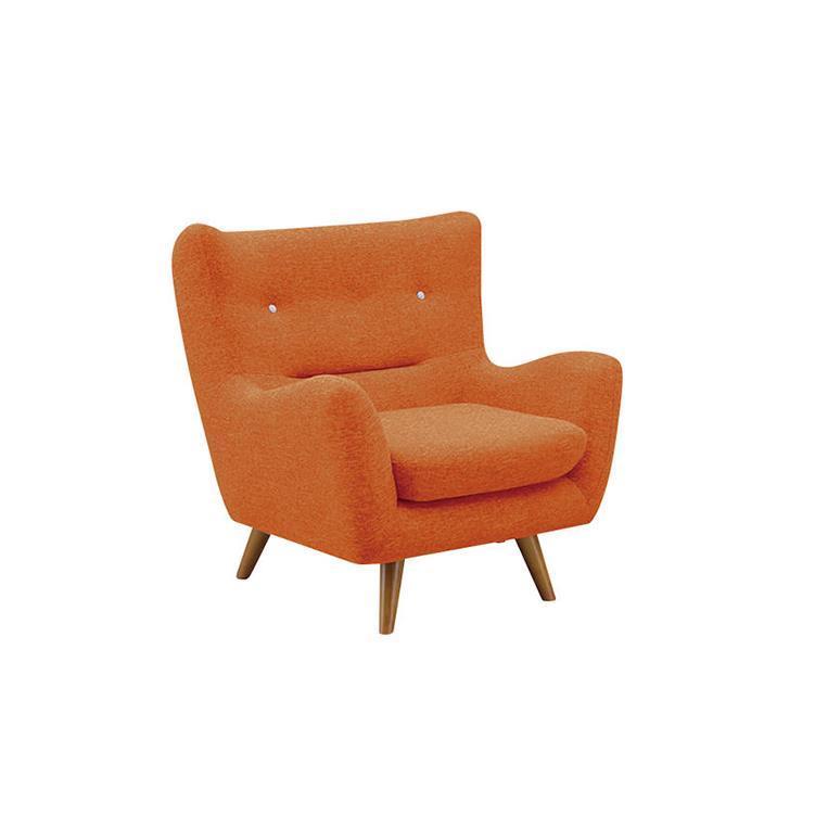 ファビオラ  オレンジ 1Pソファ