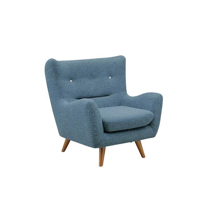 ファビオラ  ブルー 1Pソファ