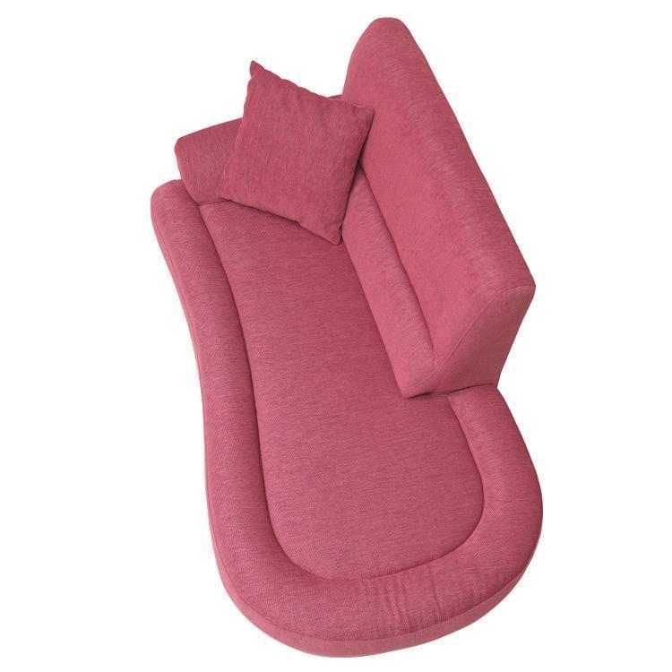 スプーン 片肘2Pソファ  ピンク