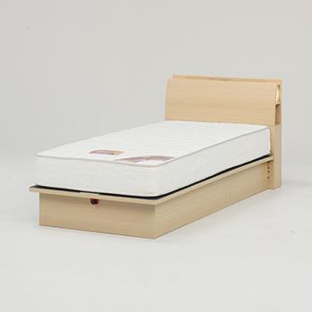 オスロC(リフト縦300)ベッドフレーム WD NA