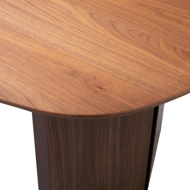 ロペ リビングテーブル台形 リアルナット 110