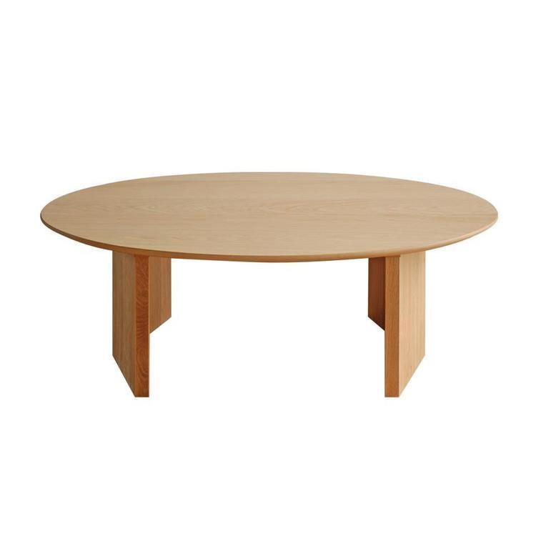 ロペ リビングテーブル楕円 オークナチュラル 110