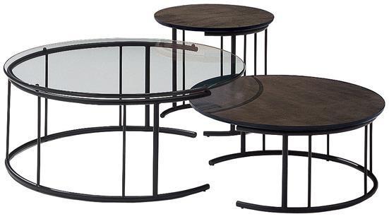 TMRB-L リビングテーブル ガラスGC500 Φ90×38