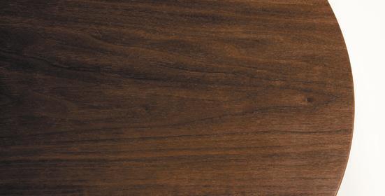 TMRB-L リビングテーブル ウォールナットBW Φ90×38