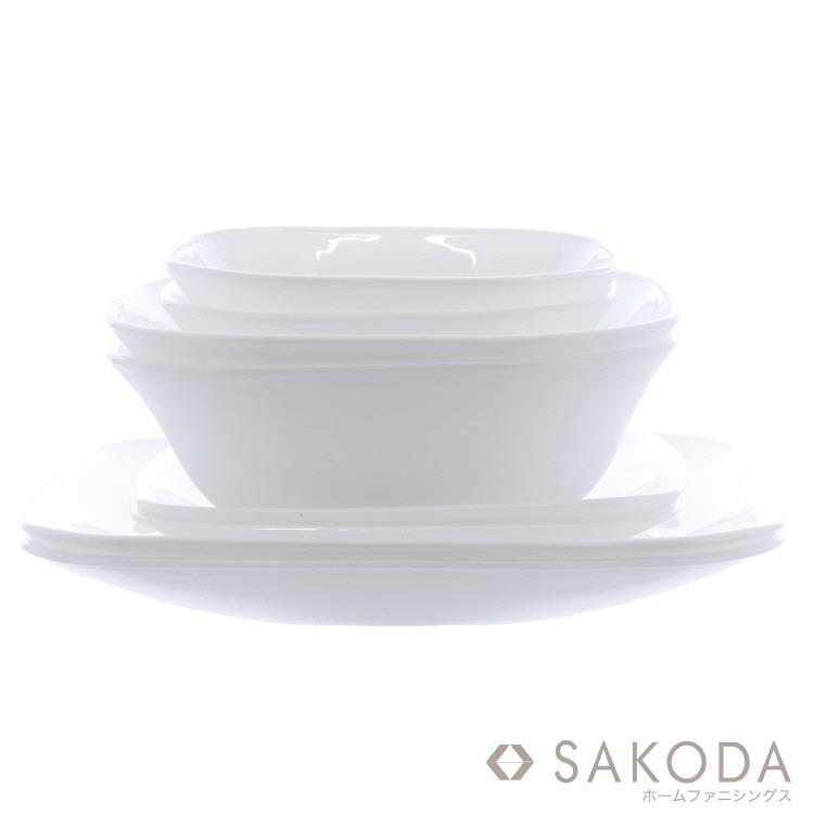 At home 軽くて割れにくい食器8Pセット  WH