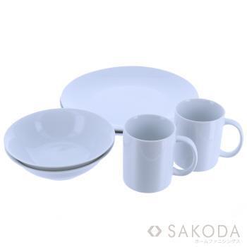 At home 白のシンプル 食器6Pセット WH