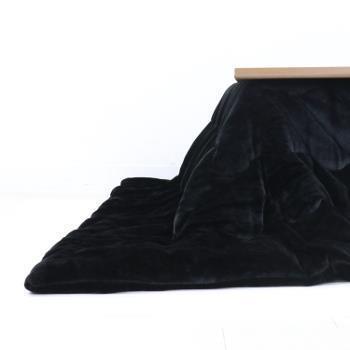 VET-QU200  ベルベット コタツ薄掛布団 BK 200×200
