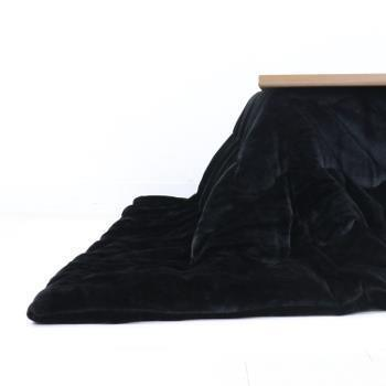 VET-QU300  ベルベット コタツ薄掛布団 BK 200×300