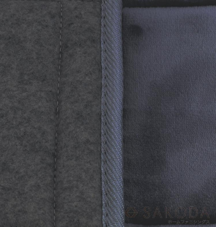 VET-RUG290  ベルベット  ラグ BK 190X290