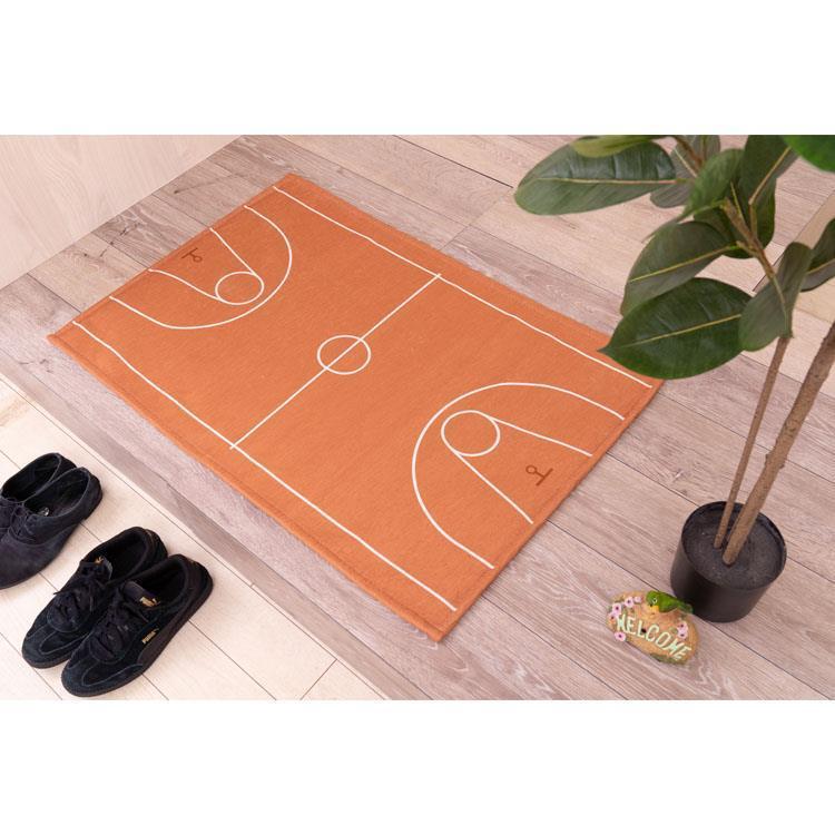 HKB-MAT60 バスケットボールコート  玄関マット 60X90