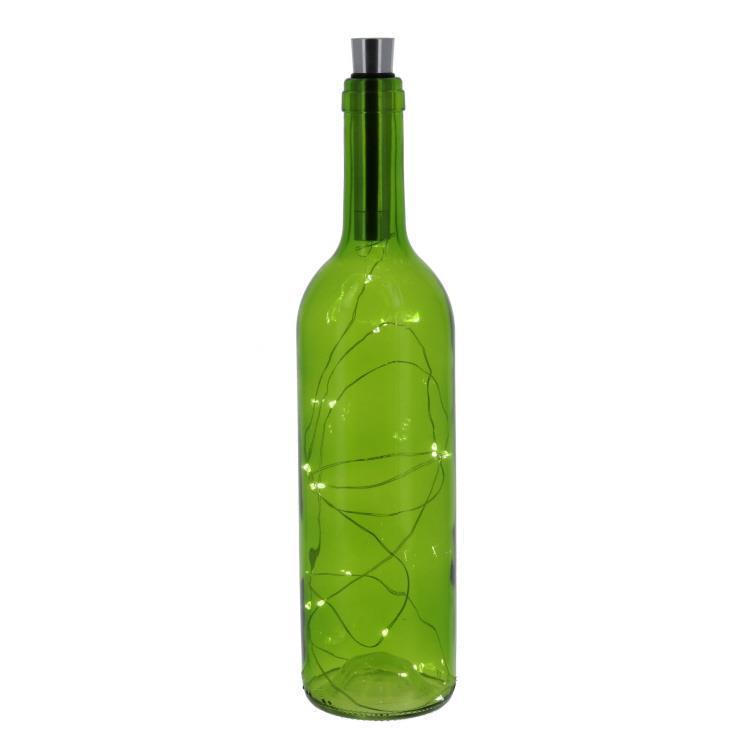 50213-GREEN   LED入ガラス瓶  L  GR