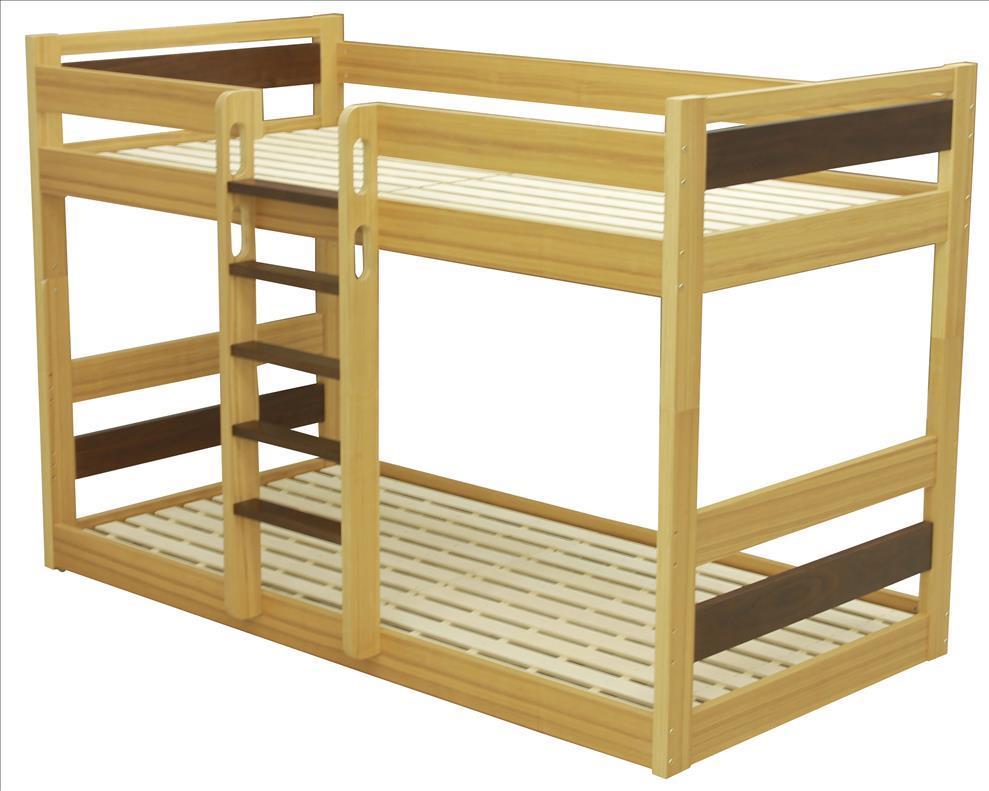 LANA 低床2段ベッド ナチュラル