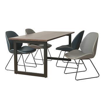 センス ダイニングテーブル 160 WN アイアン脚:M/H