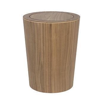 木製ダストボックス 蓋付丸  WN