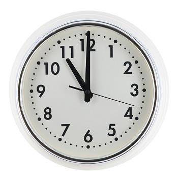 壁掛け時計 ホワイト   WH/SV