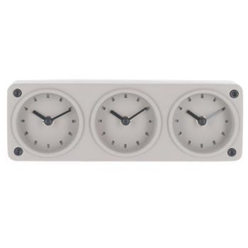 三連コンクリート置時計  GY