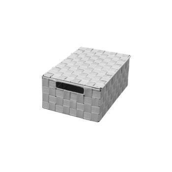 YH7832  リボンテープボックス 蓋付き S  GY