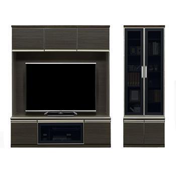 イグアス TVボード+キャビネット BK