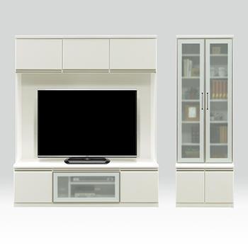 イグアス TVボード+キャビネット WH