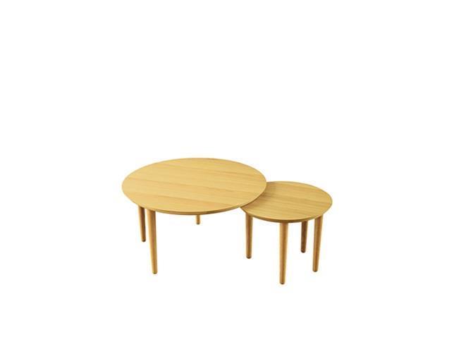 バルーン 69-2枚 リビングテーブル ホワイトオーク