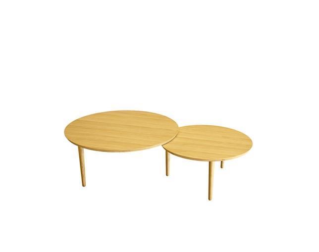 バルーン 90-2枚 リビングテーブル ホワイトオーク