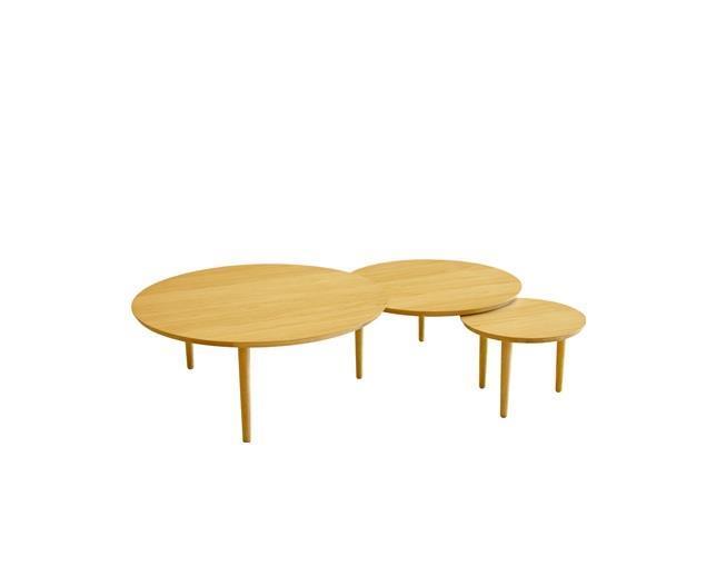 バルーン 90-3枚 リビングテーブル ホワイトオーク