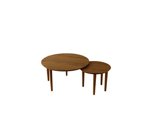 バルーン 69-2枚 リビングテーブル ウォールナット