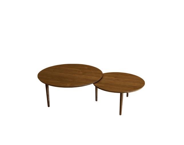 バルーン 90-2枚 リビングテーブル ウォールナット