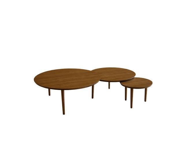 バルーン 90-3枚 リビングテーブル ウォールナット
