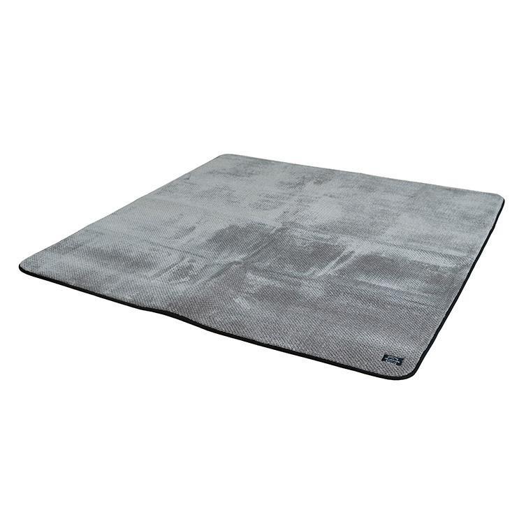 カチオンミックス ラグ 185cm×185cm GY QKN-RUG185