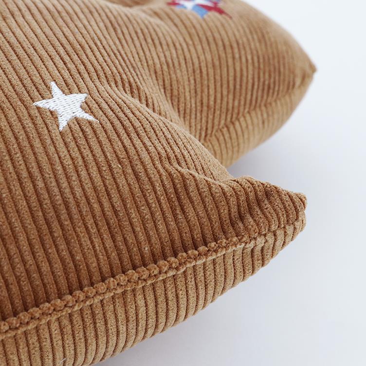 刺繍コーデュロイ サボテンクッション 40cm×33cm BR HSC-CUC40
