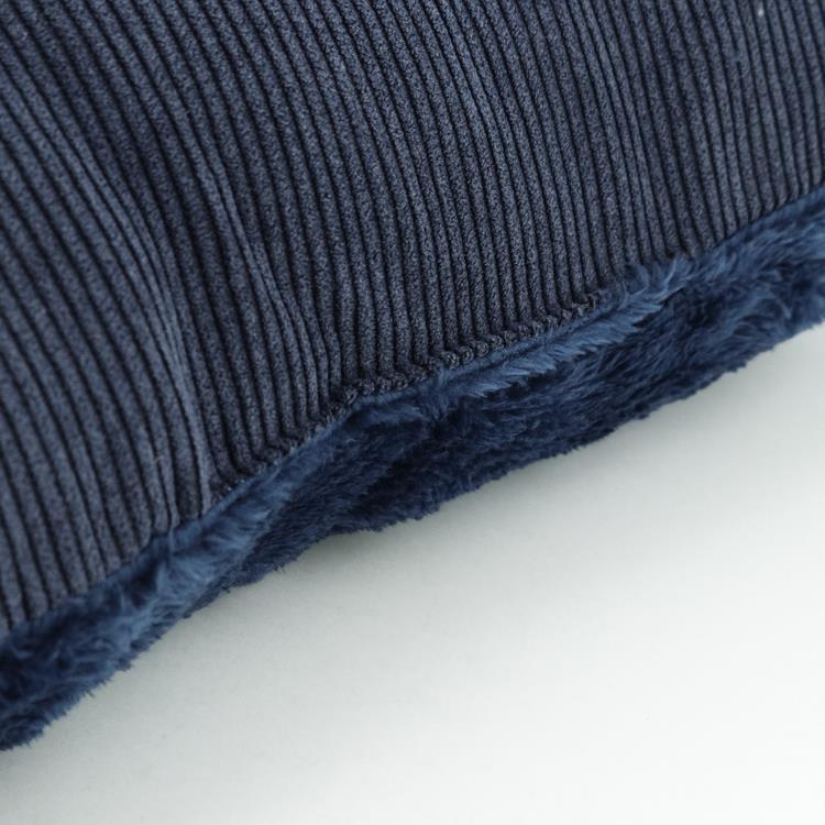 刺繍コーデュロイ 背当クッション  NV 45×45