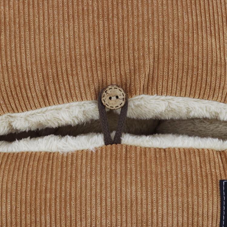 刺繍コーデュロイ 脚入れクッション  BR 35×37