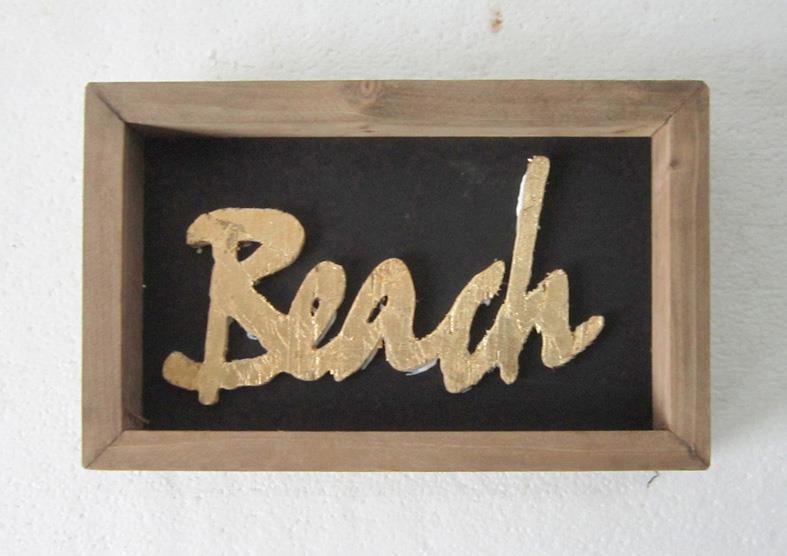 FX252  Beach ウッドフレーム  27×17