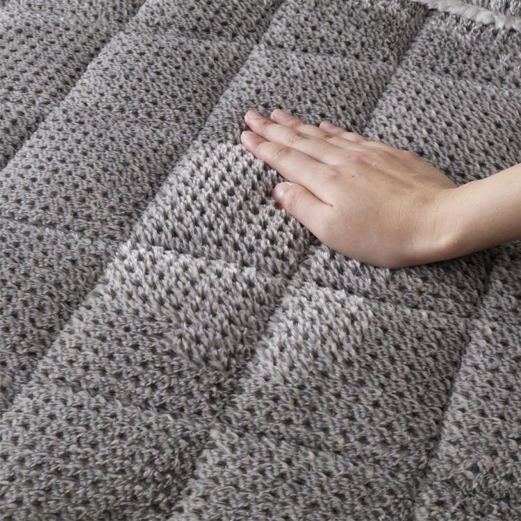 こたつ掛敷布団セット カチオンミックス 長方形 120cm幅こたつ用 GY