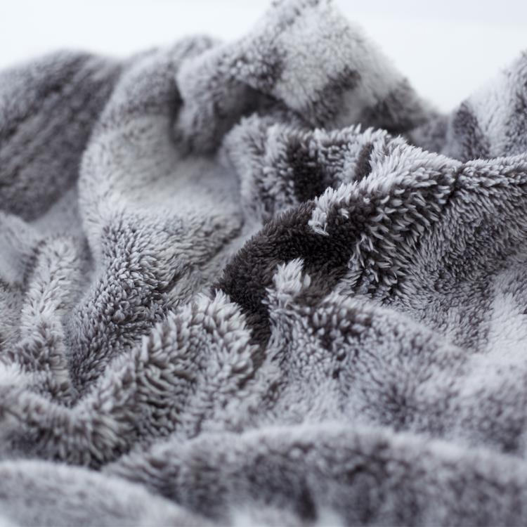 モコモコキリム 枕カバー  43×63  GY