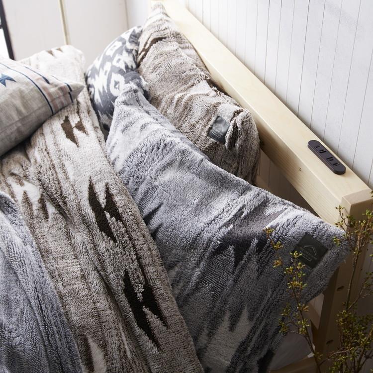 モコモコキリム 枕カバー  43×63  BR