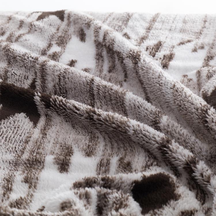 モコモコキリム 毛布  ダブル  BR