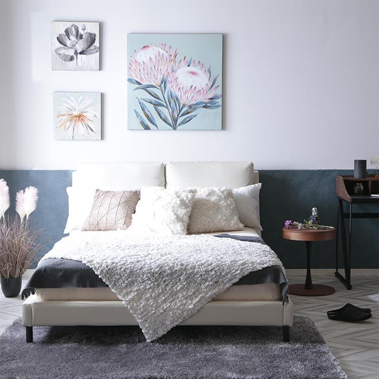 ラピュタ ベッドフレーム ダブルサイズ PVC  WH