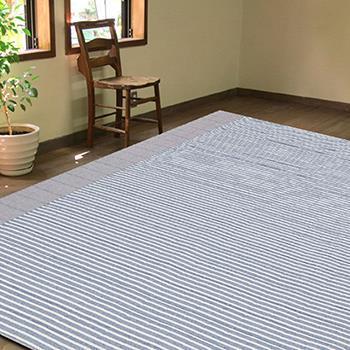 ヴィラ 折り畳みラグ BL  185×185