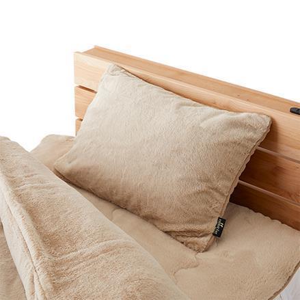 TH-114 ラビットファー+3.5℃ 枕カバー  43×63  BE