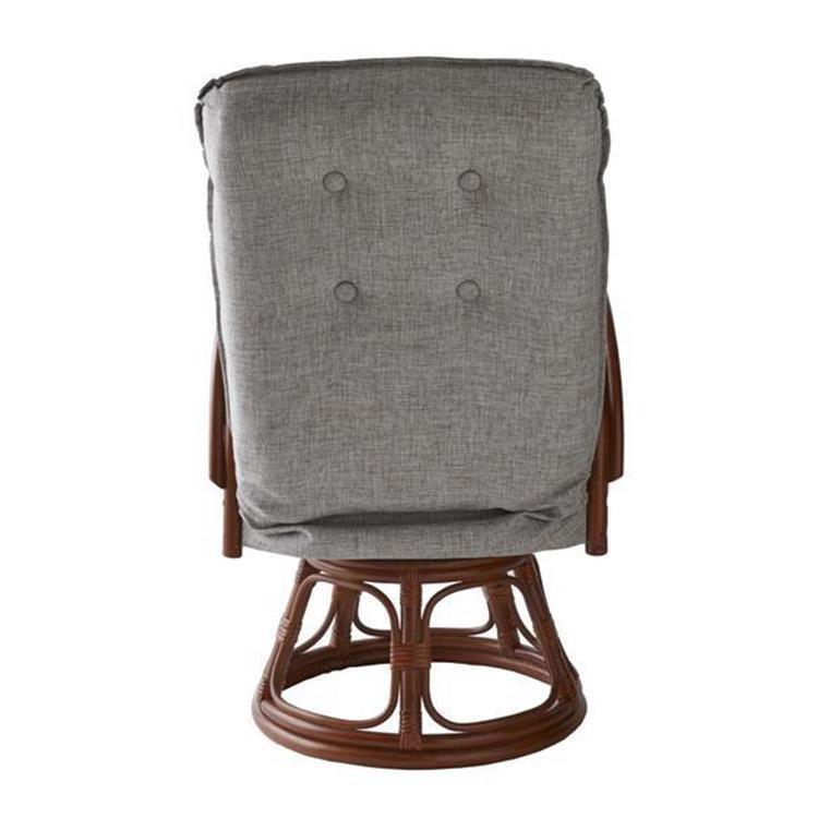 【WEB限定】 籐回転座椅子 2101938900  RZ-1165 BR