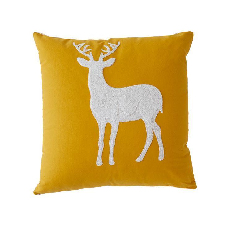 Deer クッション YE 43×43