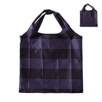 IL191  Eco-Bag  BK/Bボーダー