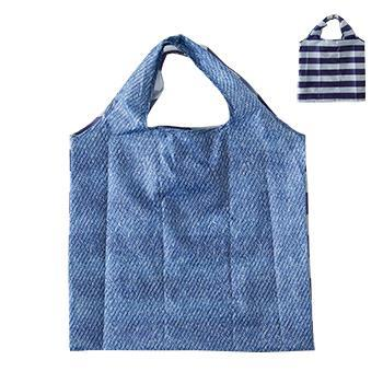 IL209  Eco-Bag  Denim/Nボーダ
